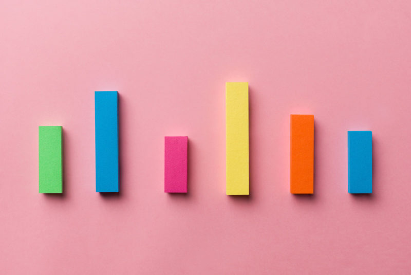 colorful charts representing debt to income ratio