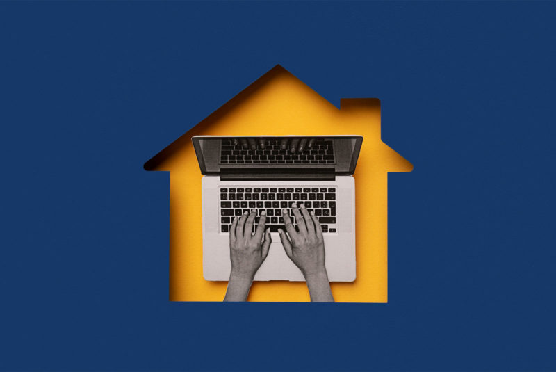 hands typing on a computer what is a home equity line of credit