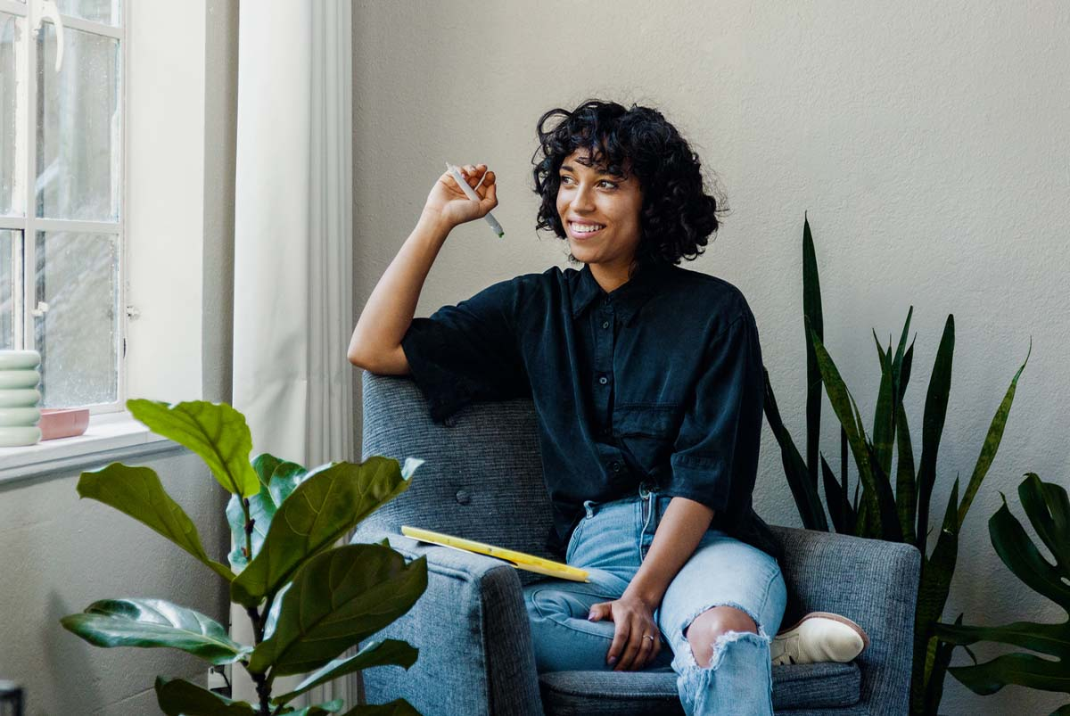 A woman feels confident while waiting for mortgage preapproval